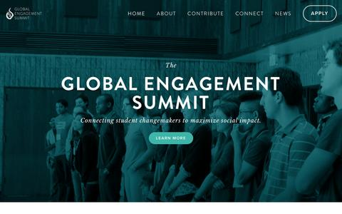 Screenshot of Home Page theges.org - The Global Engagement Summit - captured Jan. 29, 2016