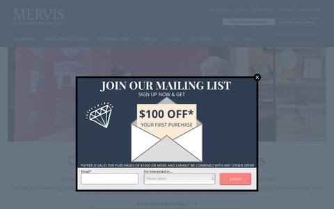 Screenshot of Contact Page mervisdiamond.com - Contact Us - Mervis Diamond Importers - captured Oct. 1, 2018