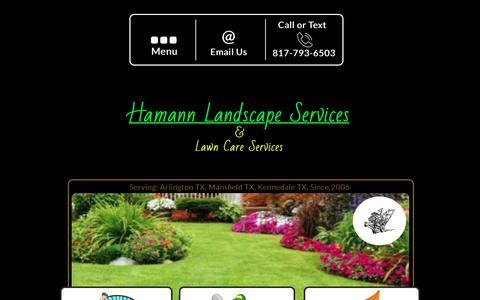 Screenshot of Home Page hamannlandscape.com - Hamann Landscape Services and Lawn Care Services - captured July 13, 2017