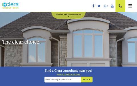 Screenshot of Terms Page clerawindows.com - Terms of Use | Clera Windows + Doors - captured Sept. 28, 2018
