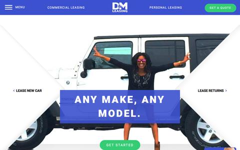 Screenshot of Home Page dmautoleasing.com - D&M Auto Leasing | Personal & Commercial Auto & Car Leasing - captured Nov. 13, 2016