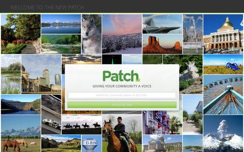 Screenshot of Home Page patch.com - Home | Local community news brought to you by Patch | Patch - captured July 11, 2014