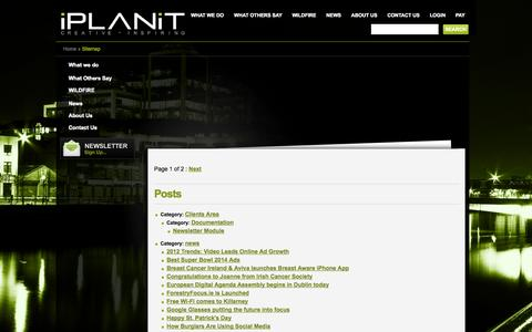 Screenshot of Site Map Page iplanit.ie - Sitemap - iPLANiT Digital Web Agency - iPLANiT Digital Web Agency - captured Sept. 30, 2014