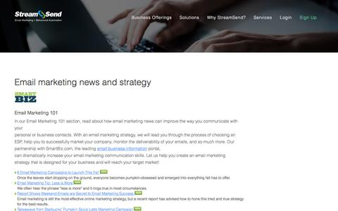 Email Marketing Strategy, Email Marketing News - StreamSend