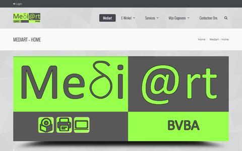 Screenshot of Home Page mediart-assenede.com - Mediart BVBA | +32 (0)499 72 70 13 - captured Feb. 12, 2016