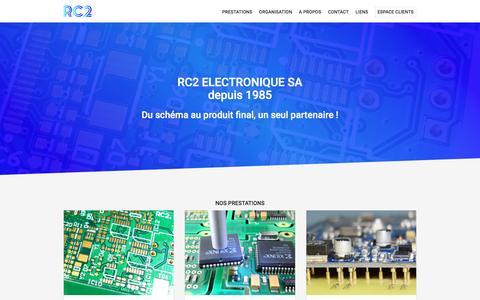Screenshot of Home Page rc2.ch - RC2 ELECTRONIQUE SA - captured Nov. 29, 2016