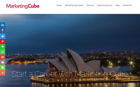 Screenshot of Jobs Page marketingcube.com.au - Careers | Marketing Cube - captured Nov. 5, 2018