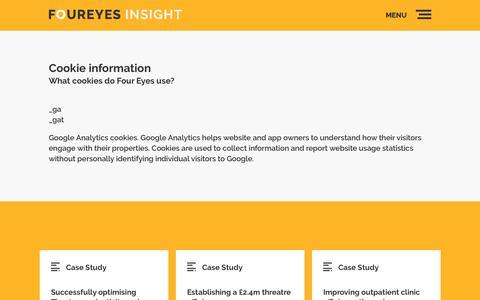 Screenshot of Terms Page foureyesinsight.com - Terms & Conditions   Foureyes Insight - captured Nov. 25, 2016