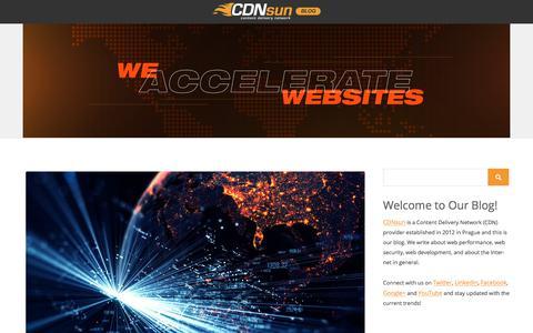 Screenshot of Blog cdnsun.com - CDNsun Blog - Content Delivery Network (CDN) News - captured Sept. 25, 2018