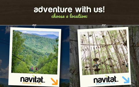 Screenshot of Home Page navitat.com - Navitat Zipline Canopy Adventures | Asheville NC and Knoxville TN - captured Oct. 30, 2017