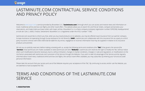Screenshot of Terms Page wayn.com - Terms - wayn.com - captured Nov. 3, 2018