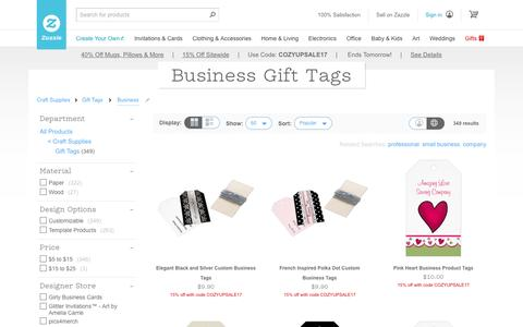Business Gift Tags | Zazzle