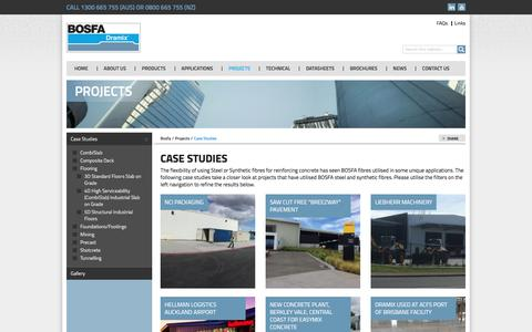 Screenshot of Case Studies Page bosfa.com - Case Studies - captured Feb. 7, 2016