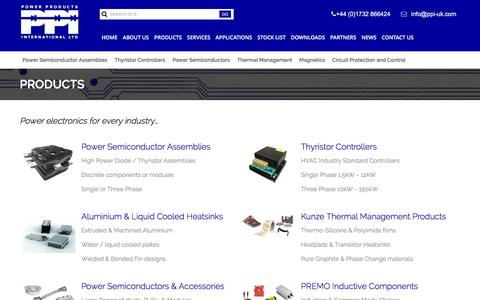 Screenshot of Products Page ppi-uk.com - Products – Power Products International - captured Jan. 30, 2016
