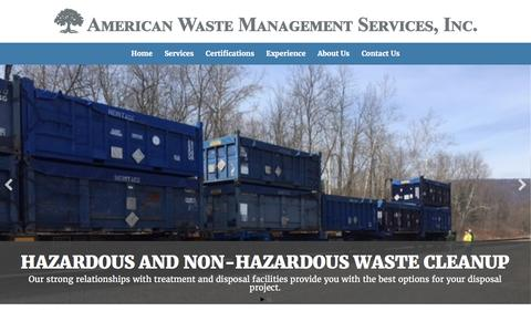 Screenshot of Home Page awmsi.com - American Waste Management Services - captured Nov. 20, 2016