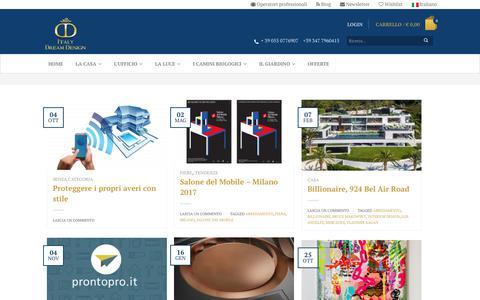 Screenshot of Blog italydreamdesign.com - Blog - Italy Dream Design - captured Oct. 15, 2017