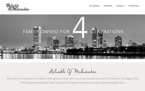 Screenshot of Home Page reliableofmilwaukee.com - Reliable Milwaukee - captured Oct. 20, 2018