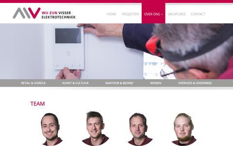 Screenshot of Team Page mve-bv.nl - Team | Visser Elektrotechniek B.V - captured Oct. 1, 2018