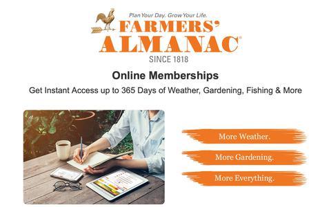 Screenshot of Signup Page farmersalmanac.com - Become a Farmers' Almanac Member - captured Sept. 29, 2018