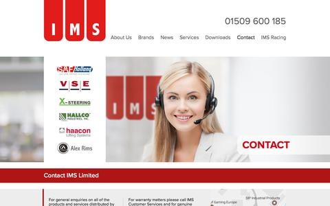 Screenshot of Contact Page imslimited.com - Contact details for IMS Limited - IMS Limited - captured May 26, 2017