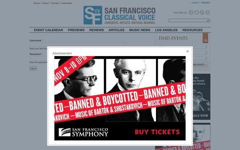 Screenshot of Login Page sfcv.org - User account | San Francisco Classical Voice - captured Nov. 7, 2018