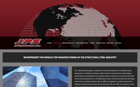 Screenshot of About Page jpsint.com - About Us —  JPS International Inc. - captured Feb. 4, 2016