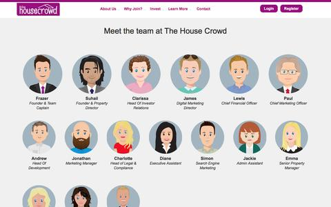 Screenshot of Team Page thehousecrowd.com - The House Crowd :: Our Team - captured Dec. 16, 2016