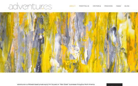 Screenshot of About Page adventur.es - About — adventur.es - captured Sept. 25, 2015