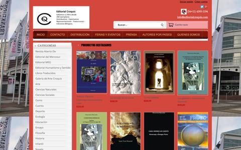 Screenshot of Home Page editorialcroquis.com - Tienda Online de Editorial Croquis - captured Jan. 26, 2016