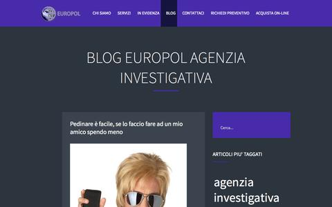 Screenshot of Blog europolinvestigazioni.com - BLOG EUROPOL Agenzia Investigativa - captured Oct. 4, 2014