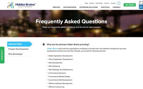 FAQ (Frequently Asked Questions) of Hidden Brains