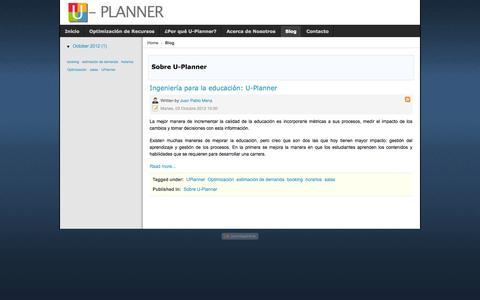 Screenshot of Blog u-planner.com - Sobre U-Planner - U-Planner - captured Sept. 17, 2014