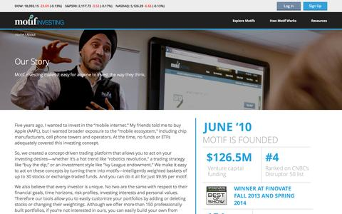 Screenshot of About Page motifinvesting.com - About Us | Motif Investing - captured June 19, 2015