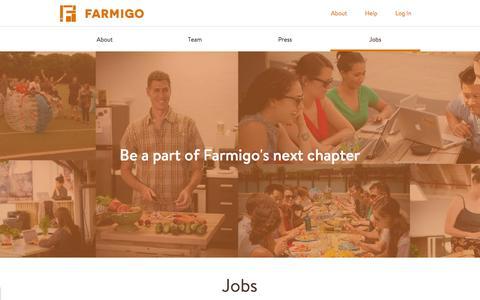 Screenshot of Jobs Page farmigo.com - Jobs | Farmigo - captured Feb. 3, 2016