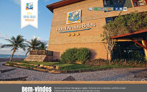 Screenshot of Home Page hotelareiasbelas.com.br - Hotel Areias Belas Maragogi - captured March 12, 2016