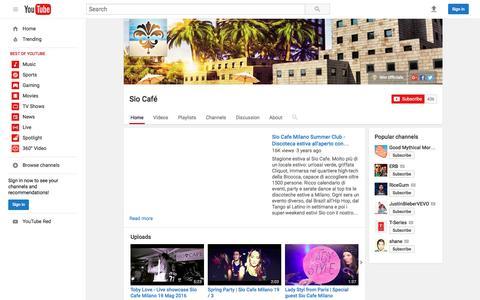 Screenshot of Press Page youtube.com - Sio Café  - YouTube - captured June 1, 2016