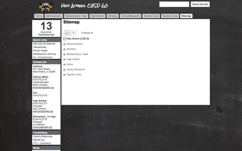 Screenshot of Site Map Page na60.org - Sitemap - New Athens CUSD 60 - captured Oct. 26, 2014