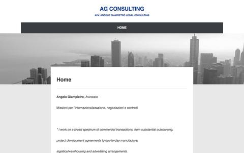 Screenshot of Home Page ag-consulting.it captured July 23, 2016