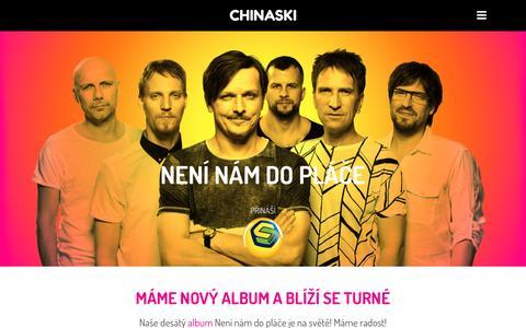 Screenshot of Home Page chinaski.cz - CHINASKI   Není nám do pláče - captured May 16, 2017