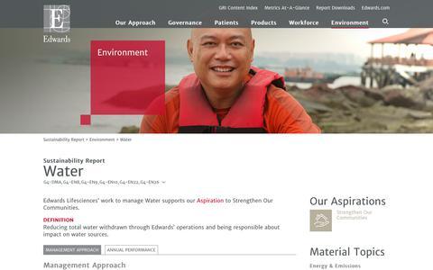 Edwards 2016 Sustainability Report   Water