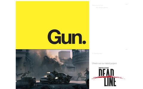 Screenshot of Home Page fearthegun.com - Gun - Video Game Think Tank and Publisher - captured Nov. 16, 2016