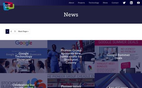 Screenshot of Press Page pioneergroup.co.uk - News Articles Archive - Pioneer Group - captured Sept. 28, 2018