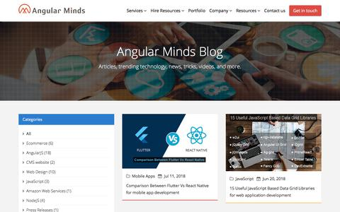 Screenshot of Blog angularminds.com - Blog | Angular Minds - captured July 11, 2018