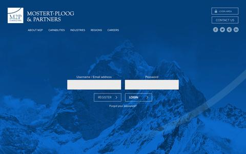 Screenshot of Login Page m2p.net - Login «  Mostert Ploog & Partners - captured Oct. 3, 2014