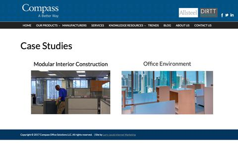 Screenshot of Case Studies Page compass-office.com - Case Studies   Compass Office Solutions - captured Sept. 29, 2018
