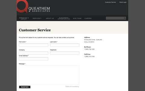 Screenshot of Support Page sqandassociates.com - Queathem & Associates | California - captured Oct. 3, 2014