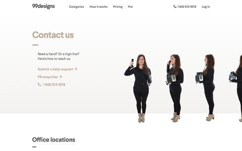 Screenshot of Contact Page 99designs.com - Support & Contact   99designs - captured Nov. 9, 2017