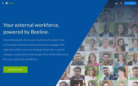 Screenshot of Home Page beeline.com - Home - Beeline - captured Aug. 23, 2019