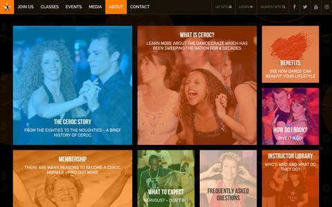 Screenshot of About Page ceroc.com - About CEROC   Ceroc UK - captured July 4, 2018
