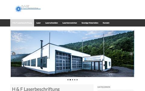 Screenshot of Home Page h-f-laserbeschriftung.de - H & F Laserbeschriftung GMBH | - captured June 18, 2015